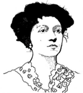 Dibujo Retrato de Lola Mora